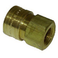 Mi-T-M AW-0017-0004 3/8 Quick Connect Socket Brass