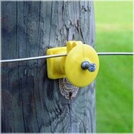 Fi Shock IWKNY-FS Insulator Wood Post Knob Yellow