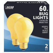 Feit Electric 60A/Y-130 60 Watt Bug Light Yellow Medium Base 2 Pack