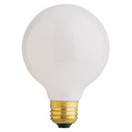 Feit Electric 40G25/W/RP 40 Watt 3-1/8 Inch Incandescent Globe Retail Pack G 25 White Medium Brass Base