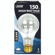 Feit Electric 150A/CL 150 Watt Incandescent Bulb A21 Clear Medium Brass Base