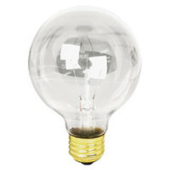 Feit Electric 40G25/MP-130 Maintenance Pack 40 Watt 3-1/8 Inch Incandescent Globe G 25 Clear Medium Brass Base 6 Pack