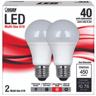 Feit Electric A450/830/LED/2 450 Lumens LED A19 6.5 Watt Equals 40 Bulbs 2 Pack
