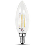 Feit Electric BPCTC40/827/LED/2 Blnt Tip Cand 4.5W 827Led2700k 2 Pack