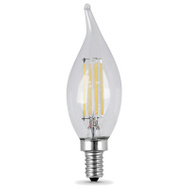 Feit Electric BPCFC40/827/LED/4 Led Flm Tip Cand 3.8W Dim2700k 4 Pack