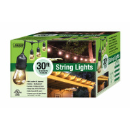 Feit Electric 72041 Outdoor String Light Set 30 Foot 10 Socket 15 Bulbs