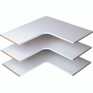 Stow RS3003 Shelves Corner White 14In 3Pk 3 Pack
