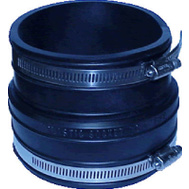 Fernco P1059-44 4 Inch Socket To Plastic Pipe Coupling