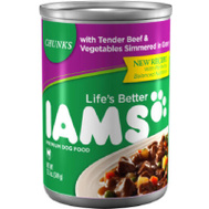 Iams 02520 12.3 Ounce Beef Dog Food