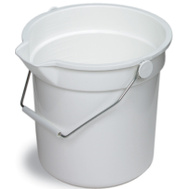 Continental Commercial 8110WH Huskee Bucket Refuse 10Qt