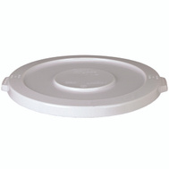 Continental Commercial 3201-1 Huskee White Lid With Hole (Lid Only)