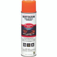 Rust-Oleum 203036 Industrial Choice Fluorescent Orange Precision Line Marking 17 Ounce