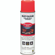 Rust-Oleum 203037 Industrial Choice Fluorescent Red Orange Water Based Precision Line Marking Paint