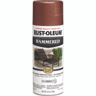 Rust-Oleum 210849 Stops Rust Hammered Metal Finish Spray Copper 12 Ounce