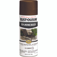 Rust-Oleum 210880 Stops Rust Hammered Metal Finish Spray Brown 12 Ounce