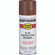 Rust-Oleum 214085 Stops Rust Brown Flat Protective Enamel Spray