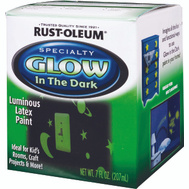 Rust-Oleum 214945 Specialty Glow In The Dark Latex 1/2 Pint