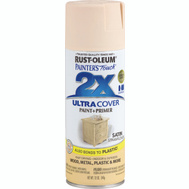 Rust-Oleum 249065 Painters Touch 2X Ultra Cover Paint + Primer Strawflower Satin Spray