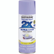 Rust-Oleum 249079 Painters Touch 2X Ultra Cover Paint + Primer French Lilac Satin Spray