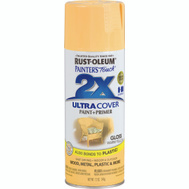 Rust-Oleum 249091 Painters Touch 2X Ultra Cover Paint + Primer Warm Yellow Gloss 12 Ounce Spray