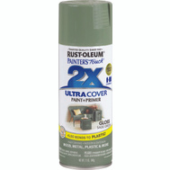 Rust-Oleum 249094 Painters Touch 2X Ultra Cover Paint + Primer Sage Green Gloss Spray