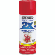 Rust-Oleum 249124 Painters Touch 2X Ultra Cover Paint + Primer Apple Red Gloss Spray