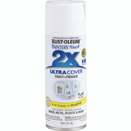 Rust-Oleum 249126 Painters Touch 2X White Flat Ultra Cover Spray
