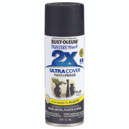 Rust-Oleum 249127 Painters Touch 2X Ultra Cover Paint + Primer Black Flat 12 Ounce Spray