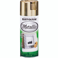 Rust-Oleum 1910830 Metallic Bright Reflective Gold Metallic 11 Ounce Spray