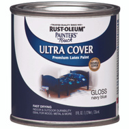 Rust-Oleum 1922730 Painters Touch Ultra Cover Latex Enamel Navy Blue Gloss 1/2 Pint