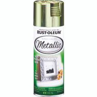 Rust-Oleum 1936830 Metallic Bright Reflective Brass Metallic 11 Ounce Spray