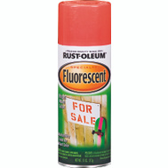 Rust-Oleum 1955830 Specialty 12 Ounce Fluorescent Red Orange Spray Paint 11 Ounce