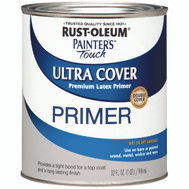 Rust-Oleum 1980502 Painters Touch Ultra Cover Latex Primer Gray Quart