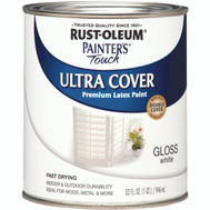 Rust-Oleum 1992502 Painters Touch Ultra Cover Latex Enamel White Gloss Quart