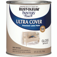 Rust-Oleum 1994502 Painters Touch Ultra Cover Latex Enamel Almond Gloss Quart