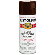 Rust-Oleum 267112 Stops Rust Paint Spray Ruststop Brown