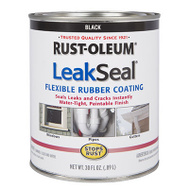 Rust-Oleum 271791 Leakseal Black Brush-On Flexible Rubber Coating Quart