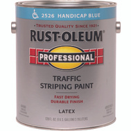 Rust-Oleum 2526402 Professional Traffic Striping Latex Handicap Blue 150 VOC Gallon
