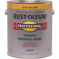 Rust-Oleum 2548402 Professional Traffic Striping Latex Yellow 150 VOC Gallon