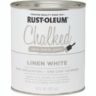 Rust-Oleum 285140 Chalked Ultra Matte Interior Chalked Linen White 30 Ounce