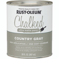 Rust-Oleum 285141 Chalked Ultra Matte Interior Chalked Country Gray 30 Ounce