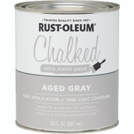 Rust-Oleum 285143 Chalked Ultra Matte Interior Chalked Aged Gray 30 Ounce