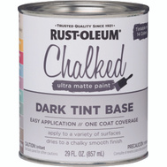 Rust-Oleum 287689 Chalked Ultra Matte Interior Chalked Dark Tint Base 30 Ounce