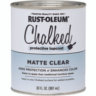 Rust-Oleum 287722 Chalked Ultra Matte Interior Chalked Clear Coat 30 Ounce