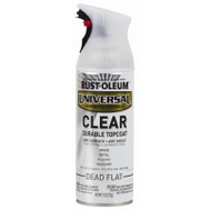 Rust-Oleum 302151 Universal Any Surface Any Angle Clear Dead Flat 11 Ounce Spray