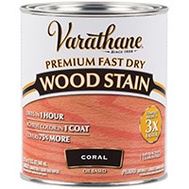 Varathane 307413 Wood Stain Fast Dry Coral Qt