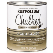 Rust-Oleum 315881 Chalked Ultra Matte Interior Chalked Aged Glaze Topcoat 30 Ounce