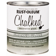 Rust-Oleum 315883 Chalked Ultra Matte Interior Chalked Smoked Glaze Topcoat 30 Ounce