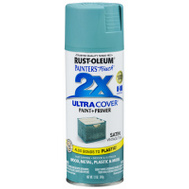 Rust-Oleum 316292 Painters Touch 2X Ultra Cover Paint + Primer Vintage Teal Satin Spray