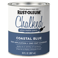 Rust-Oleum 329207 Chalked Ultra Matte Interior Chalked Coastal Blue 30 Ounce